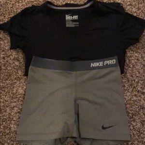Nike T-shirt and shorts!